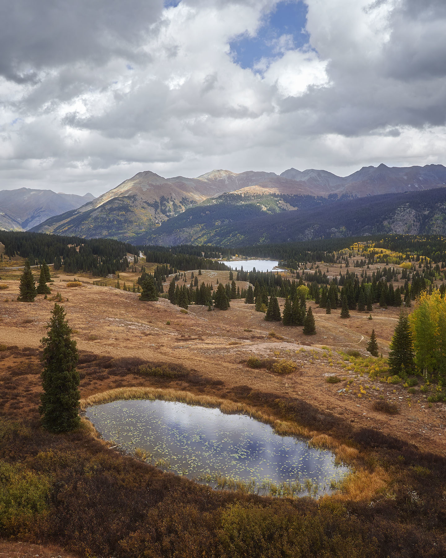 A high alpine meadow and lake in the Rocky Mountains, Colorado Landscape Photography